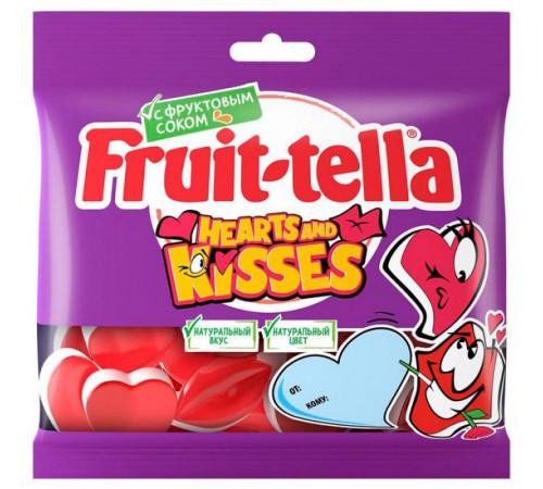 """fruittella Желейные конфеты """"hearts and kisses"""" (100 гр.)"""