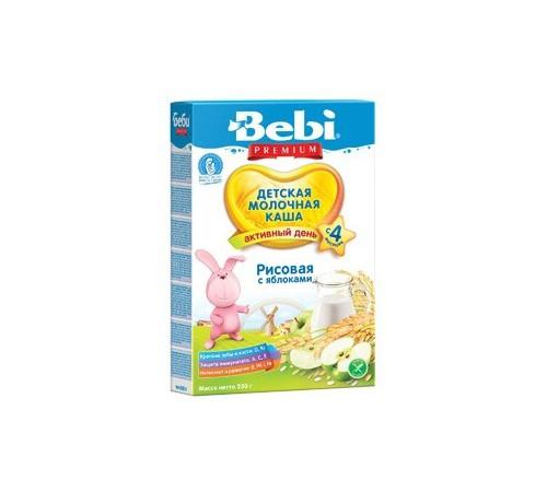 bebi молочная рисовая каша с яблоком 250gr.(4+)