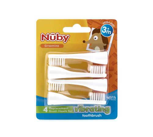 nuby nv07003 Сменные насадки для электрической щетки (4 шт.)