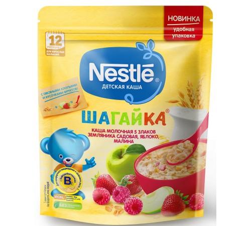 nestle Каша молочная Шагайка 5 злаков земляника-яблоко-малина 220 гр. (12 м +) 12384922