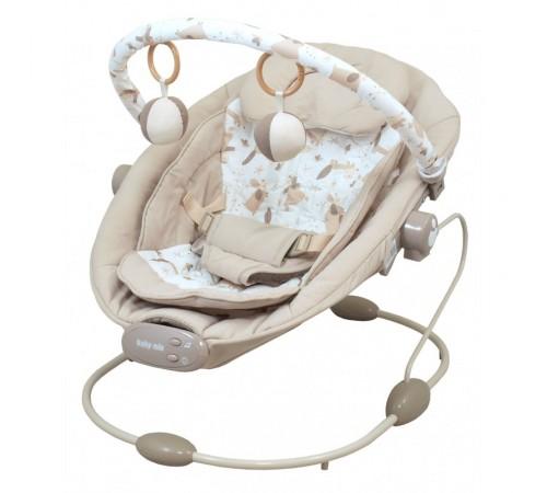 baby mix lcp-br245bm-bei Шезлонг с музыкой и вибрацией