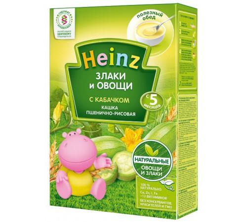 """Детское питание в Молдове heinz Пшенично-рисовая кашка """"Злаки и овощи"""" с кабачком без молока (5m+)"""