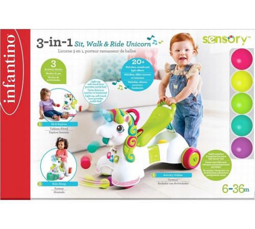 """infantino 227018 jucărie educativă 3-în-1 """"unicornul meu"""""""