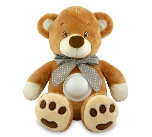 baby mix stk-13138 brown Плюшевый медведь с музыкой и светом