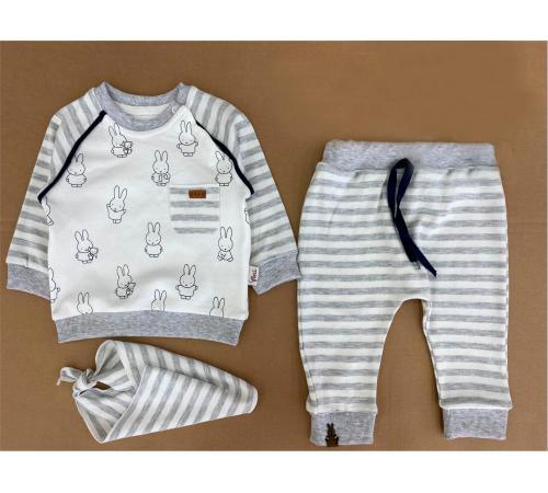 Одежда для малышей в Молдове flexi 217366 Костюм для мальчика 3 ед. (6-12-18-24 мес.) в асс.
