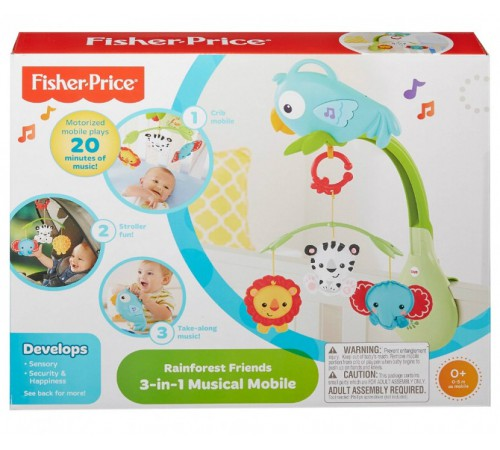 "fisher-price chr11 mobil muzical  3in1 ""papagal vesel"""