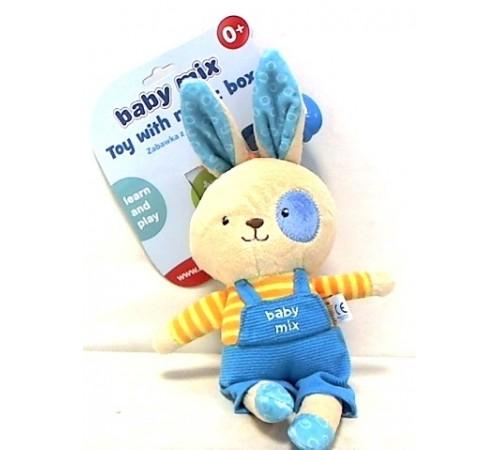"""baby mix tk/p/1205-da00 Игрушка плюшевая """"Кролик"""" мальчик"""