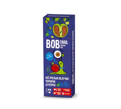 Натуральные конфеты яблочно-черничные bob snail 30 г