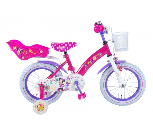 "volare 31426 bicicleta ""disney minnie bow-tique 14"" roz"