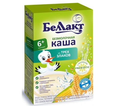 """Беллакт terci fara lapte """"3 cereale"""" porumb, orez, grâu (6m +) 200 gr."""
