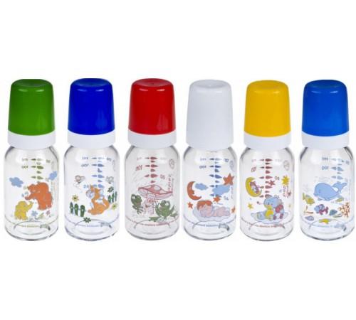 Детское питание в Молдове canpol 42/202 Стеклянная бутылочка с рисунком 120 мл.(3+)