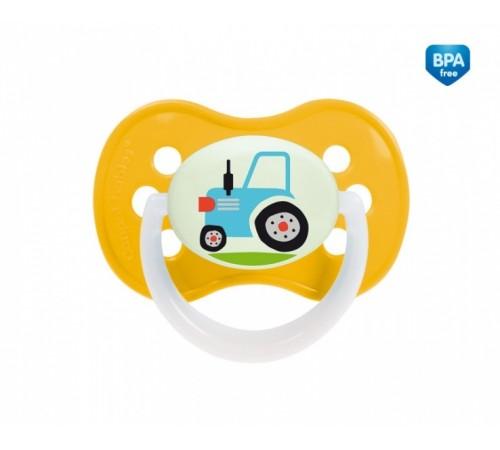 "canpol 22/411 suzeta din silicon rotunda ""transport"" in sort"