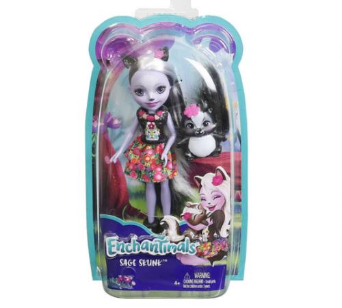enchantimals dyc75 Кукла Скунси