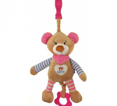 """baby mix stk-16393pИгрушка для путешествия """"Мишка"""" розовый"""
