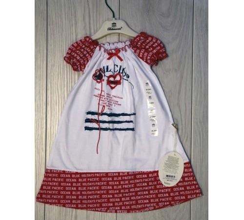 bebemania 9078 Платье красно-белое