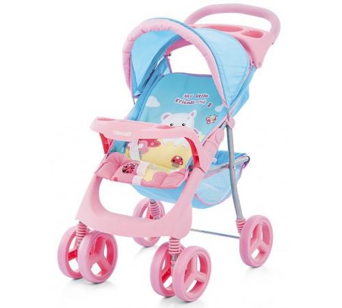 chipolino Коляска для куклы steffi kzks01501bp розово-голубая