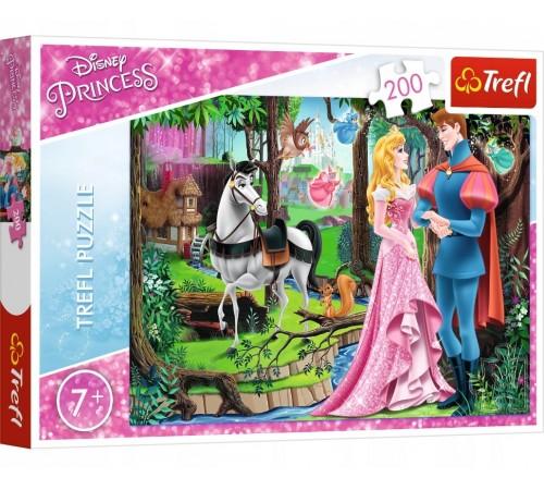 "trefl 13223 Пазлы ""Встреча в лесу. disney princess"" (200 эл.)"