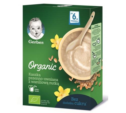 gerber organic terci de grâu și ovăz cu aromă de vanilie 240 gr. (6+)