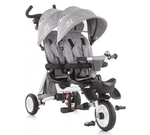 chipolino трицикл для близнецов 2fun trk2f0191gy серый