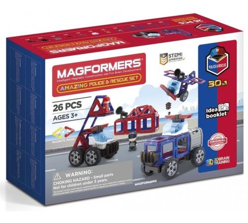 "magformers 717001 Магнитный конструктор ""amazing police & rescue set"" (26 эл.)"
