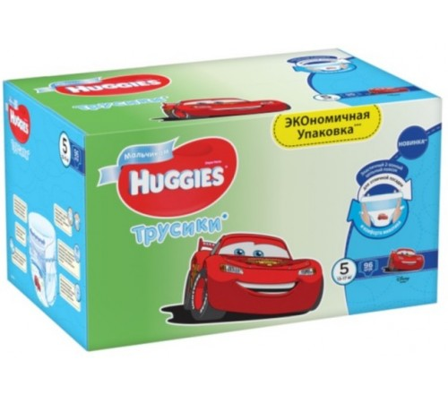huggies pants box boy 5 (13-17 кг.) 96 шт.