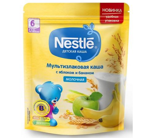 Детское питание в Молдове nestle Каша мультизлаковая молочная Яблоко-банан 220 гр. (6 м+)