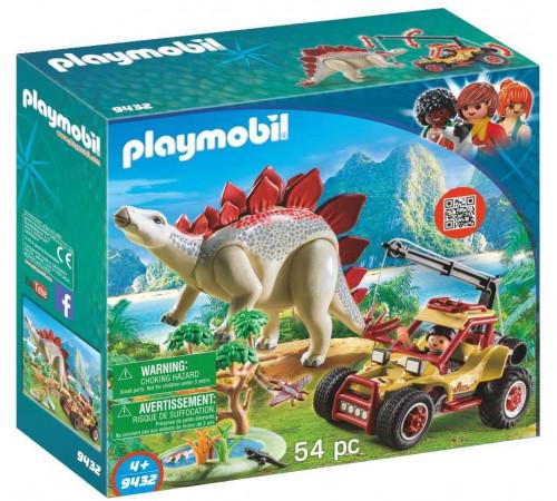"""playmobil 9432 Конструктор """"Исследовательский транспорт со стегозавром"""""""