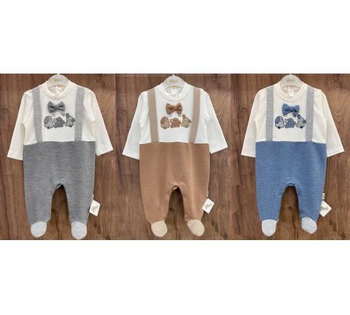 Одежда для малышей в Молдове flexi 213749 Комбинезон хлопок для мальчика (р.56-62-68) в асс.
