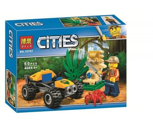 """bela РД02.151 Конструктор """"cities"""" Багги для поездок по джунглям (60 дет.)"""