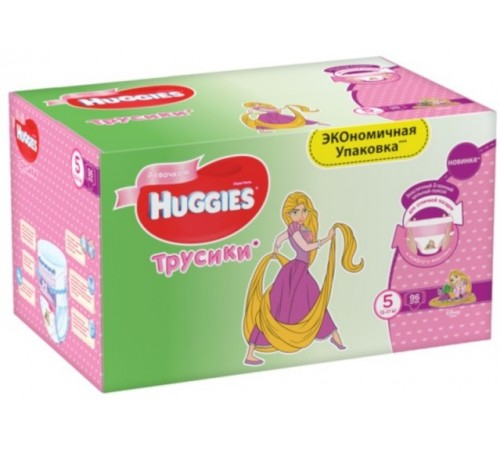 huggies pants box girl 5 (13-17 kg.) 96 buc.