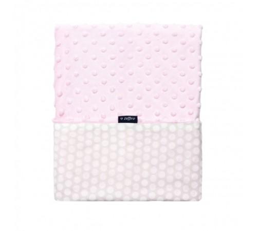 womar zaffiro Плед-одеяло minky ( 75х100 см.) белый/розовый