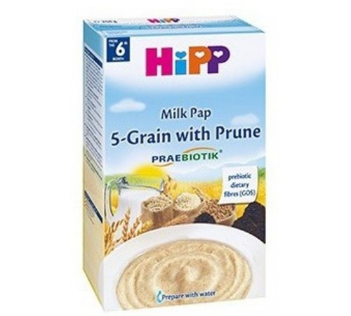 hipp 2918 Молочная каша 5 злаков с черносливом и пребиотиками (6m+) 250 гр.