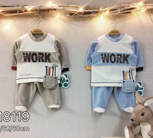 Одежда для малышей в Молдове twetoon baby  Комплект велюровый 2ед. (штанишки и батник) 118119