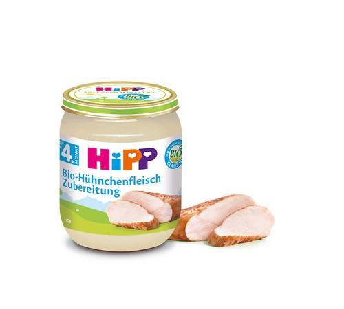 hipp 6020 pireu din carne de găină 125 gr. (4m+)