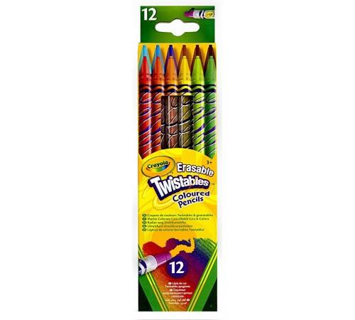 crayola 687508 creioane cu mecanism de rasucire colorate (12 buc.)