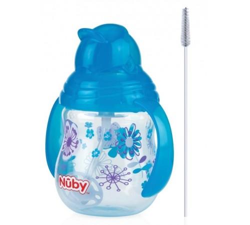 Детское питание в Молдове nuby id10324aqua Поильник flip-it с трубочкой 360 ° (12м+)270 мл.