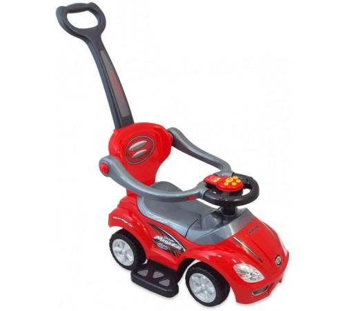 baby mix ur-z382 red Машина детская с ручкой 2-в-1