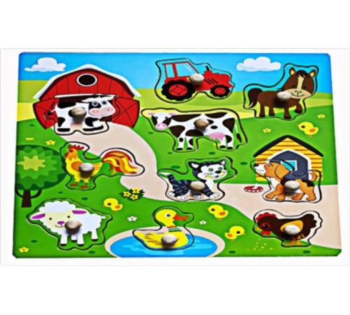 """Детскиймагазин в Кишиневе в Молдове baby mix wts-62537 Деревянные пазлы """"Домашние животные"""""""