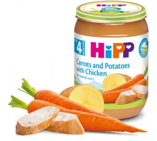 hipp piure cu morcovi, cartofi si pui (4+ luni), 190 g