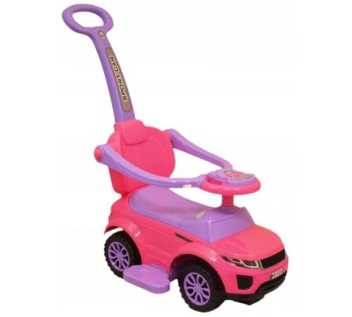 baby mix ur-hz614w pink Машина с ручкой розовый