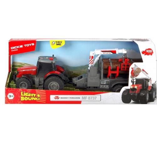 "dickie 3737003 Трактор с прицепом ""massey ferguson"""