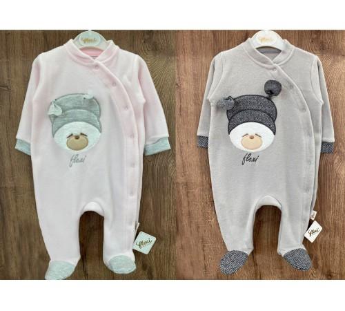 Одежда для малышей в Молдове flexi 215051 Комбинезон тонкий флисовый для девочки (р.56-62-68) в асс.