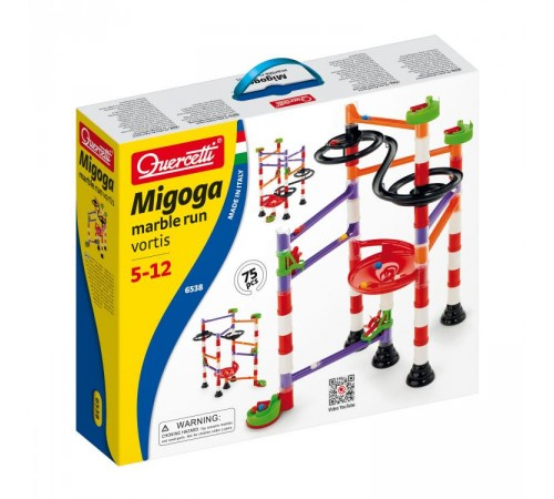 quercetti 6538 Трэк marble run vortex 80 эл.