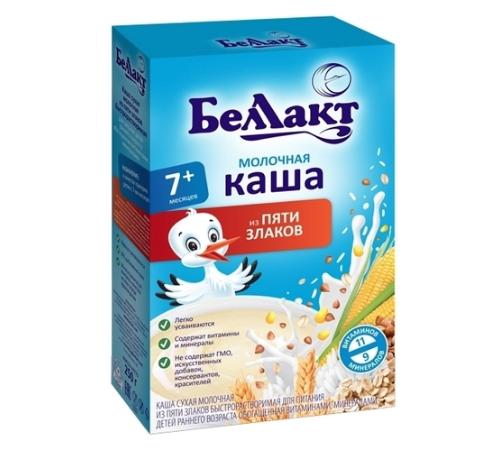 Беллакт каша молочная из 5 злаков 250г (190110000)