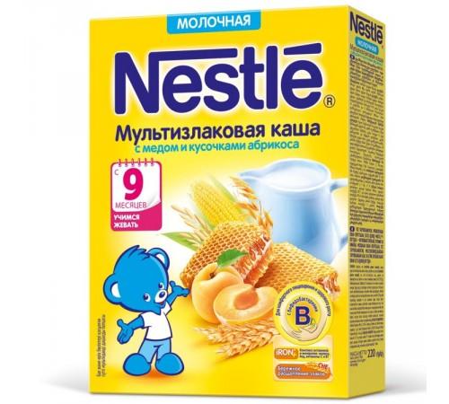 Детское питание в Молдове Каша молочная nestle многозерновая с медом и абрикосом