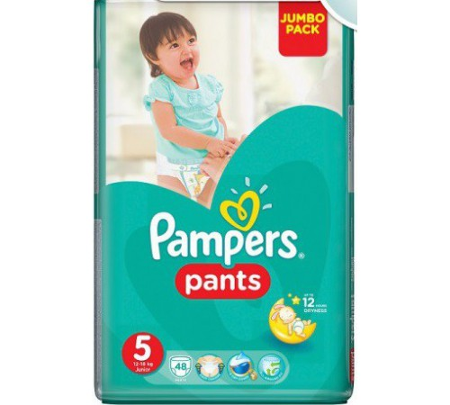 pampers pants 5 (12-18 kg. ) 48 buc.