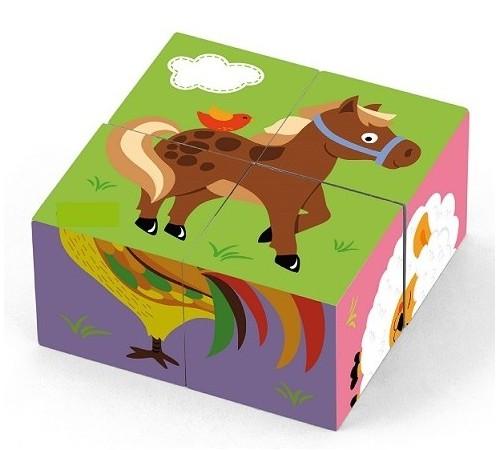 """Jucării pentru Copii - Magazin Online de Jucării ieftine in Chisinau Baby-Boom in Moldova 3toysm p8/50835 cuburi din lemn """"animale  domestice"""""""