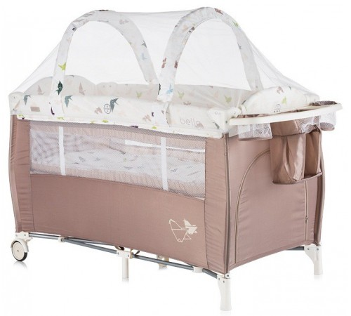 chipolino Манеж-кровать bella kosib0172ch шоколад