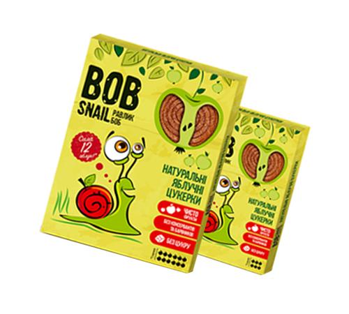 Детское питание в Молдове Натуральные Яблочные Конфеты ТМ bob snail (Улитка БОБ), 60 г
