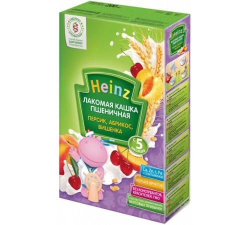 Детское питание в Молдове heinz Лакомая пшеничная каша абрикос,персик,вишенка (5m+)